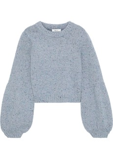 Milly Woman Mélange Wool-blend Sweater Sky Blue