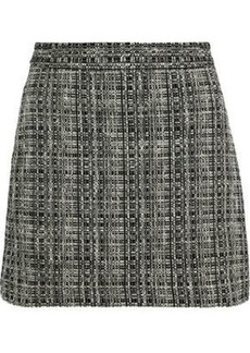 Milly Woman Modern Cotton-blend Tweed Mini Skirt Dark Gray