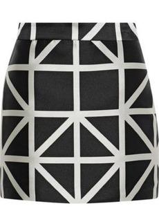 Milly Woman Modern Satin-jacquard Mini Skirt Black