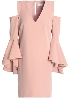 Milly Woman Nicole Cold-shoulder Ruffled Cady Mini Dress Blush