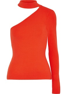Milly Woman One-shoulder Stretch-knit Top Tomato Red