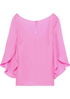 Milly Woman Papillon Crepe De Chine Blouse Bubblegum