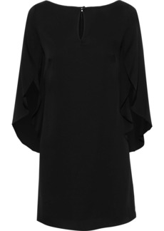 Milly Woman Papillon Silk-blend Mini Dress Black