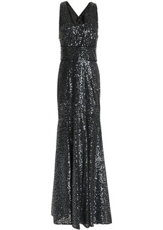 Milly Woman Penelope Fluted Embellished Tulle Gown Black
