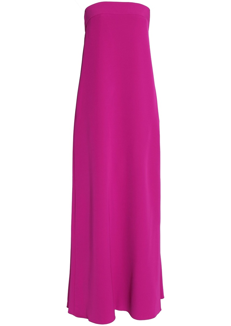 Milly Woman Pleated Cady Maxi Dress Fuchsia