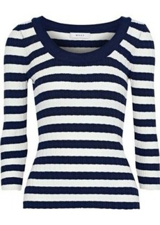 Milly Woman Ribbed-knit Sweater Navy