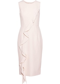 Milly Woman Tilly Ruffled Stretch-cady Dress Pastel Pink