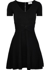 Milly Woman Twisted Knitted Mini Dress Black