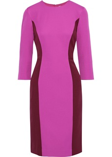 Milly Woman Two-tone Stretch-crepe Dress Magenta