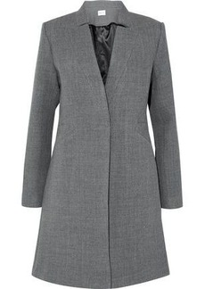 Milly Woman Wool-blend Twill Coat Gray