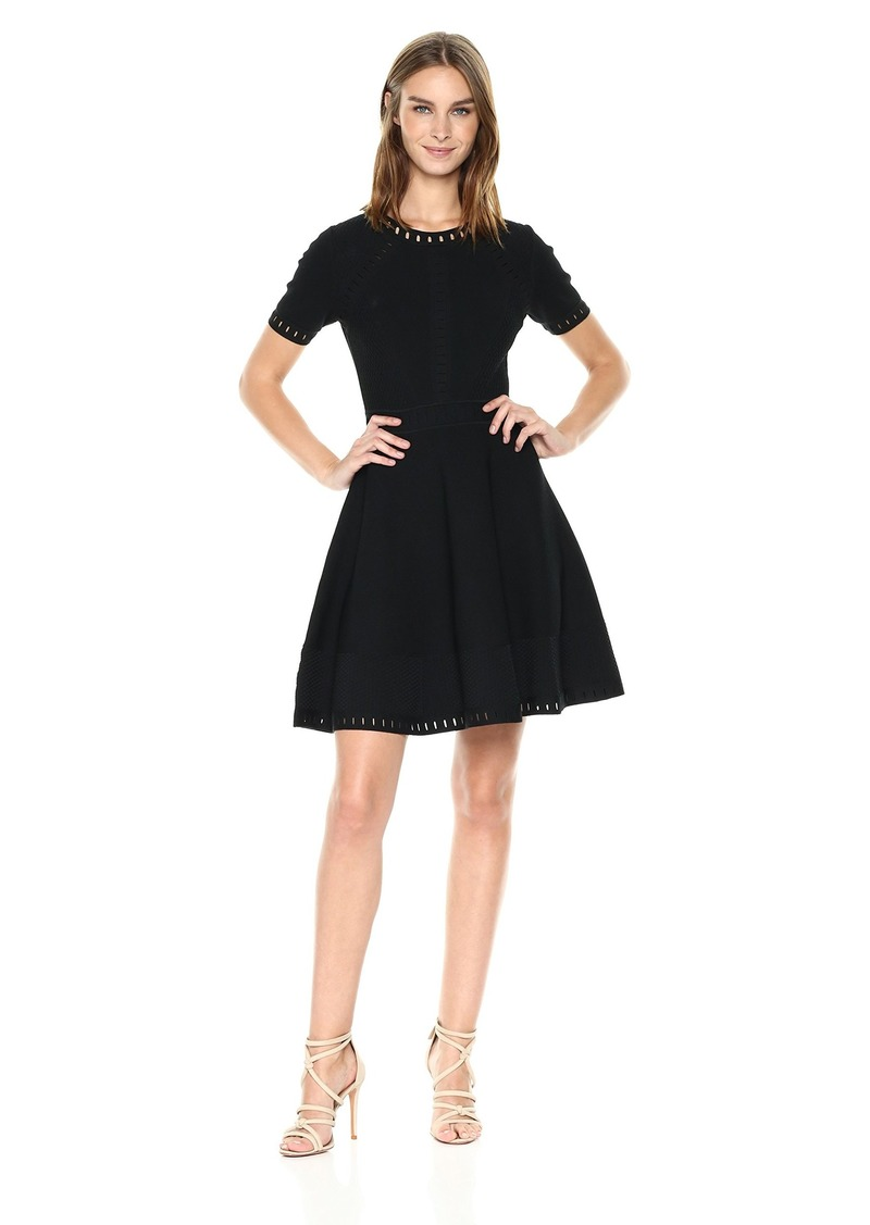 MILLY Women's Bar Pointelle Textured Dress  P