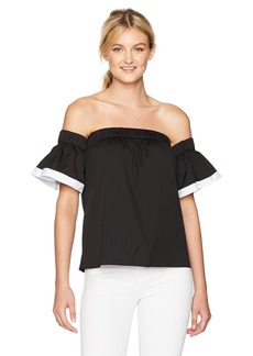 MILLY Women's Bare Shoulder Top with Combo  M