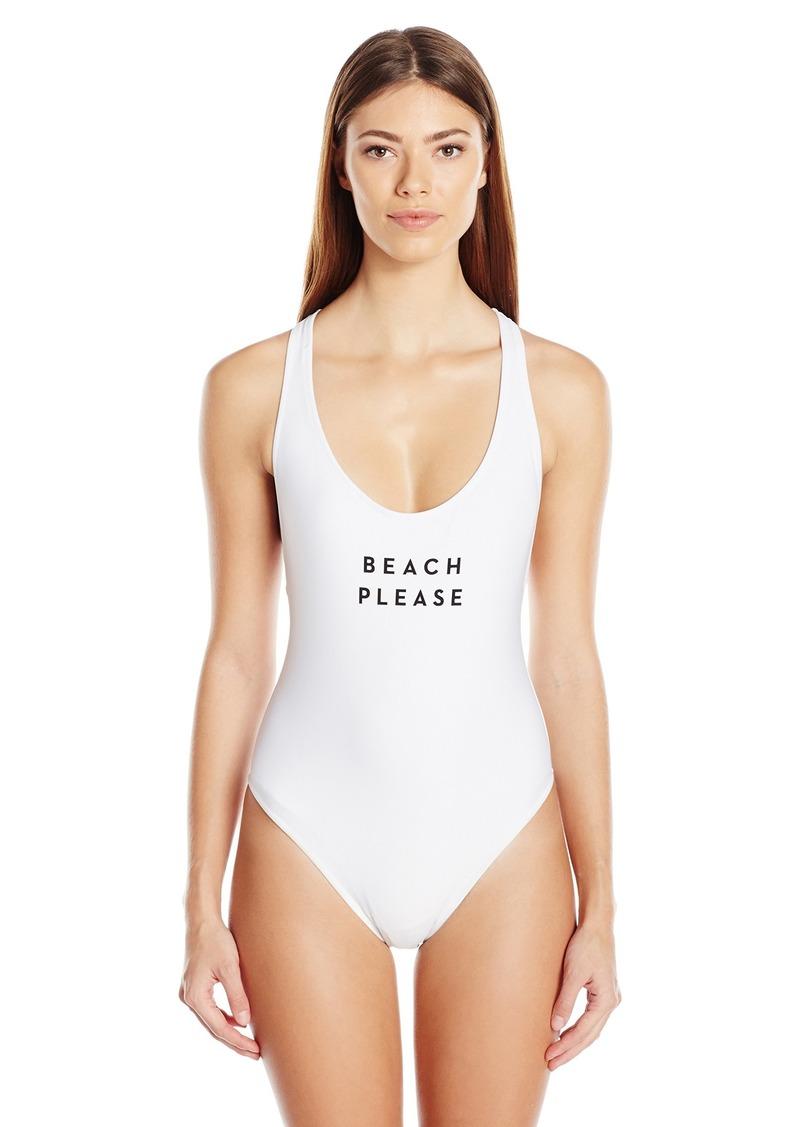 MILLY Women's  Beach Please One Piece Swimsuit