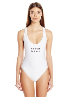 MILLY Women's Beach Please One Piece Swimsuit  S
