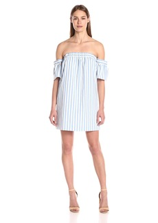 Milly Women's Breton Stripe Off-the-Shoulder Dress