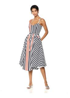 MILLY Women's Bustier Midi Dress
