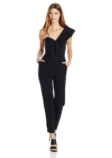 MILLY Women's Cascade Ruffle Jumpsuit