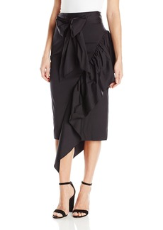 MILLY Women's Cascade Tie Skirt