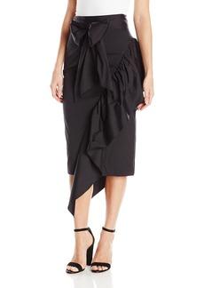 MILLY Women's Cascade Tie Skirt