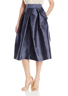 MILLY Women's Clarisa Pleated Skirt