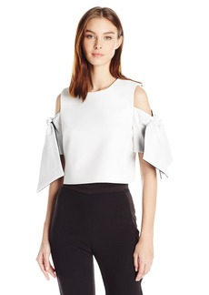 MILLY Women's Cropped Ansley Top