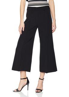 MILLY Women's Cropped Hayden Wide Leg Pintuck Trousers