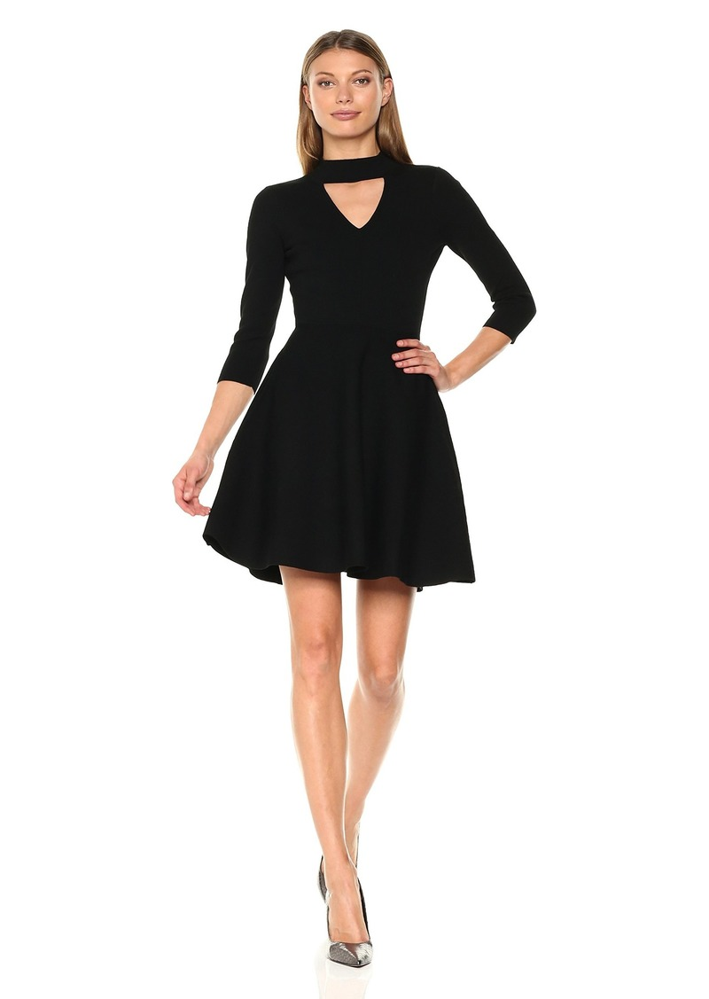 MILLY Women's Cut Out Collar Flare Dress  P