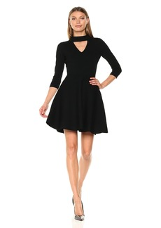Milly Women's Cut Out Collar Flare Dress  S