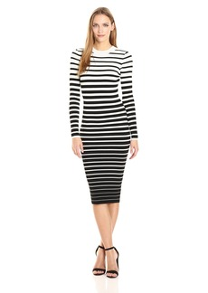 MILLY Women's Degrade Stripe Fitted Dress  L