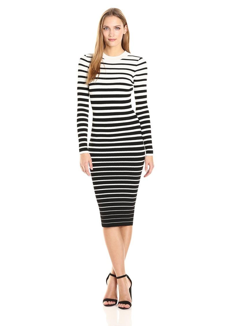 MILLY Women's Degrade Stripe Fitted Dress  S