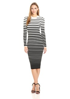 Milly Women's Degrade Stripe Fitted Dress  P