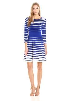 MILLY Women's Degrade Stripe Flare Dress  L