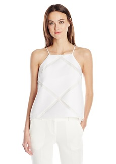 MILLY Women's Diamond Fil Coupe Trapeze Camisole Tank