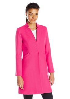 MILLY Women's Doubleface Wool Slim Coat
