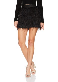 MILLY Women's Feather Mini Skirt