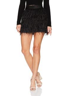 MILLY Women's Feather Mini Skirt