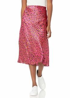 MILLY Women's Fion Cheetah Print Bias Skirt  S