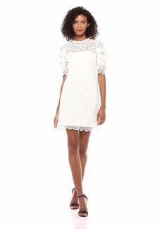 MILLY Women's Floral Lace Short Sleeveless Kara Dress  0