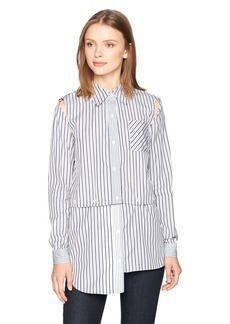 MILLY Women's Fractured Shirt