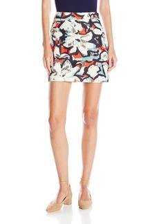 MILLY Women's Gardenia Print Modern Mini Skirt