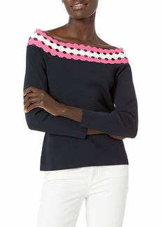 MILLY Women's Geo Cut Out Off The Shoulder Top  S