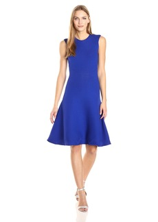 MILLY Women's Geo Textured Flare Dress  M