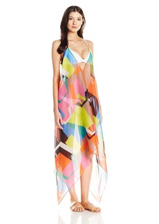 MILLY Women's Graphic Print Katrina Maxi Italian Cotton Voile Cover Up