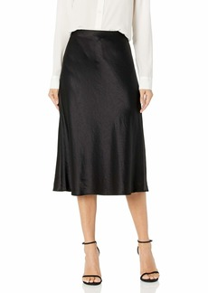 MILLY Women's Hammered Satin Mila Bias Skirt  S