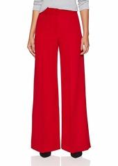 MILLY Women's Hayden Wide Leg Pintuck Trousers