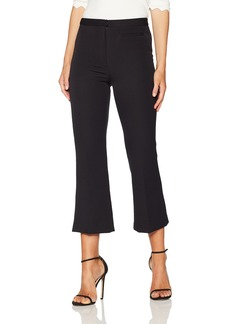 MILLY Women's High Waist Trudee Flood Pant