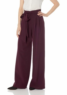 MILLY Women's High Waisted Wide Leg Front Pleated Natalie Pant