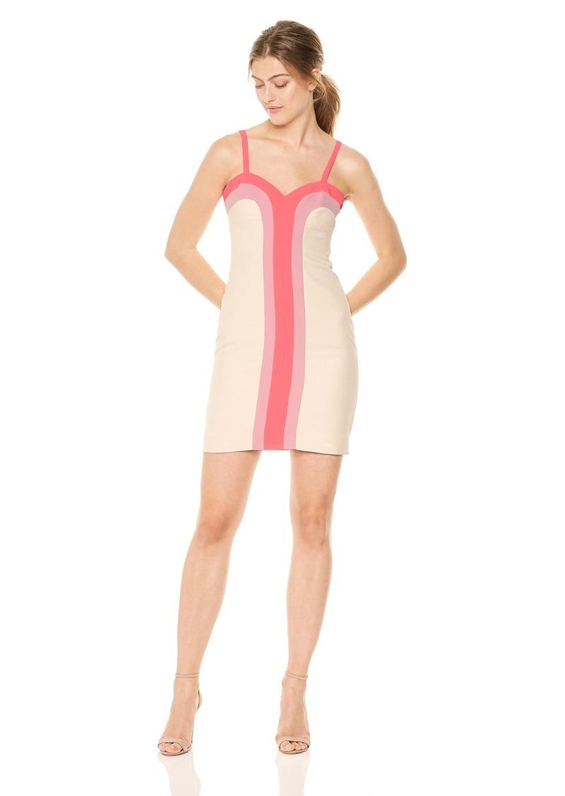 MILLY Women's Italian Cady Combo Cynthia Dress