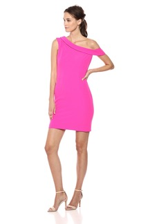 MILLY Women's Italian Cady Cressida One Shoulder Mini Dress
