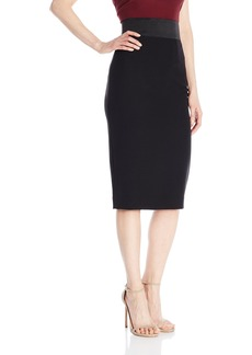 MILLY Women's Italian Cady Pencil Skirt
